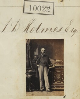 Mr J.D. Holmes, by Camille Silvy - NPG Ax59736