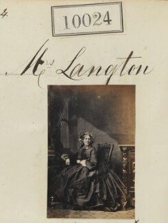 Mrs Langton, by Camille Silvy - NPG Ax59738