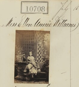 Miss Ellen Annie Williams, by Camille Silvy - NPG Ax60419