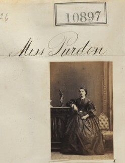 Miss Purdon, by Camille Silvy - NPG Ax60603