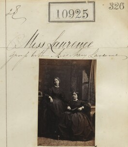 Miss Laurence; Miss Mary Laurence, by Camille Silvy - NPG Ax60631