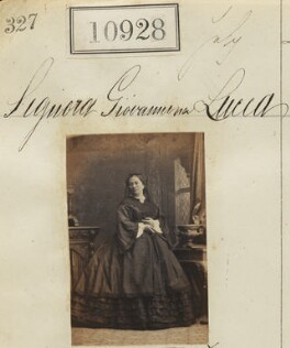 Signora Giovannina Lucca, by Camille Silvy - NPG Ax60634