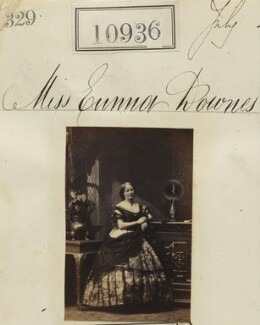 Miss Emma Downes, by Camille Silvy - NPG Ax60642