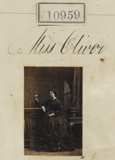 Miss Oliver, by Camille Silvy - NPG Ax60664