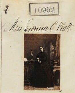 Miss Emma C. Platt, by Camille Silvy - NPG Ax60667