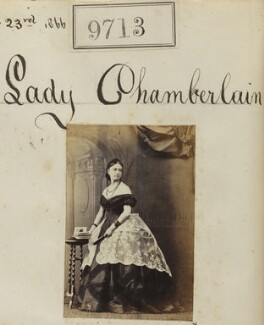 Marion (née Wilson), Lady Chamberlain, by Camille Silvy - NPG Ax59444