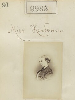 Miss Henderson, by Camille Silvy - NPG Ax59701