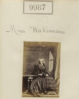 Miss Wakeman, by Camille Silvy - NPG Ax59705