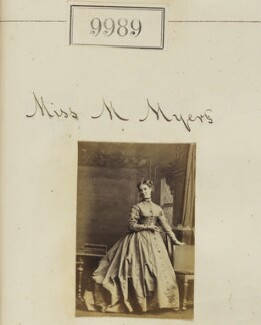 Miss M. Myers, by Camille Silvy - NPG Ax59707