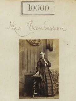 Miss Henderson, by Camille Silvy - NPG Ax59714