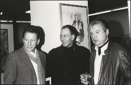 Lucian Freud; Frank Auerbach; Francis Bacon, by Harry Diamond - NPG x210058