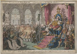 'A Scene in the New Farce as performed at the Royalty Theatre!', by George Cruikshank, published by  George Humphrey - NPG D48679