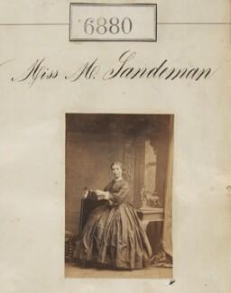 Miss M. Sandeman, by Camille Silvy - NPG Ax56800