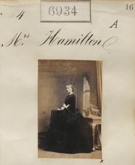 Mrs Hamilton, by Camille Silvy - NPG Ax56853