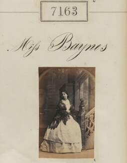 Miss Baynes, by Camille Silvy - NPG Ax57079