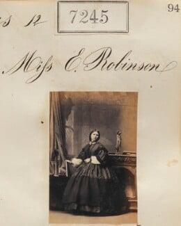 Miss E. Robinson, by Camille Silvy - NPG Ax57157