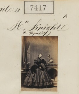 Mrs Knight, by Camille Silvy - NPG Ax57320