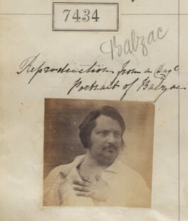 Honoré de Balzac ('Reproduction from a daguerreotype portrait of Balzac'), by Camille Silvy - NPG Ax57337