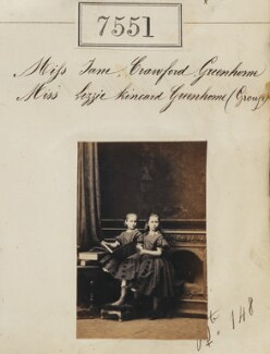 Miss Jane Crawford and Miss Lizzie Kincard Greenhome, by Camille Silvy - NPG Ax53375