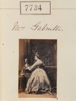 Mrs Gabrielli, by Camille Silvy - NPG Ax57573