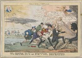Cabinet Ins and Outs. No. 4. The Rising Sun or Faction Defeated., by Henry Heath, published by  John Fairburn - NPG D48694