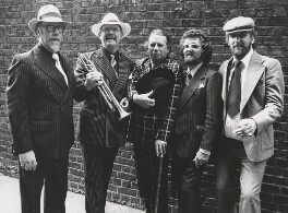George Melly, John Chilton and three band members, by Harry Diamond - NPG x210063