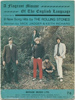 Sheet music cover for 'A Flagrant Misuse of the English Language' by The Rolling Stones (Charlie Watts; Bill Wyman; Brian Jones; Keith Richards; Mick Jagger), published by Mirage Music Limited, after  Guy Michael Webster - NPG D48530