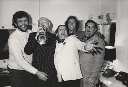 George Melly, John Chilton and three band members, by Harry Diamond - NPG x210065