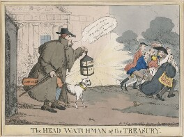 'The Head Watchman of the Treasury', by Henry Heath, published by  Thomas McLean - NPG D48697