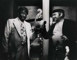 Snub Mosley and unknown man, by Harry Diamond - NPG x210101