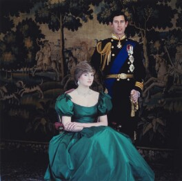 Diana, Princess of Wales; Prince Charles, by Lord Snowdon - NPG x200859