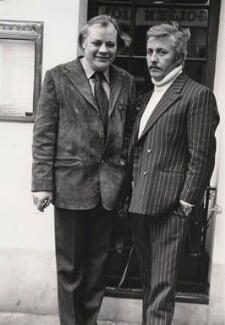 Frank Norman; Jeffrey Joseph Bernard, by Harry Diamond - NPG x210112