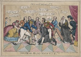 'Patch-work Cabinet, No. 2.  Political Bind Man's Buff', published by John Fairburn - NPG D48706