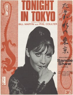 Sheet music cover for 'Tonight In Tokyo' by Sandie Shaw, published by The Peter Maurice Music Co Ltd, after  Unknown photographer - NPG D48555