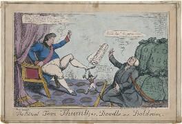 'The Political Tom Thumb; or, Doodle in a Doldrum' (King George IV; Arthur Wellesley, 1st Duke of Wellington; John Scott, 1st Earl of Eldon), by John Phillips, published by  John Fairburn - NPG D48730
