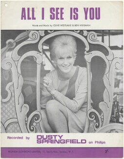Sheet music cover for 'All I See Is You' by Dusty Springfield, published by Belinda (London) Limited, after  Unknown photographer - NPG D48566