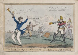 'A Premier Pop at a Protestant; or, the Battersea-fields Heroes', possibly by John Phillips, published by  John Fairburn - NPG D48733
