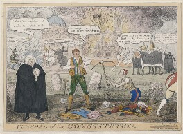 'Funeral of the Constitution', possibly by (Isaac) Robert Cruikshank, published by  Thomas McLean - NPG D48735