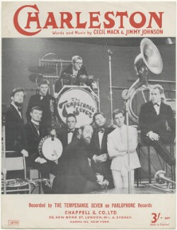 Sheet music cover for 'Charleston' by The Temperance Seven (Clifford Bevan; John Gieves-Watson; Philip Harrison; John Ross Twiston ('R.T.') Davies; Brian Innes; Alan Swainston Cooper; Cephas Howard; Paul McDowell; Martin Fry), published by Chappell & Co, after  (Dezider) Dezo Hoffmann - NPG D48576