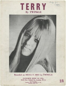 Sheet music cover for 'Terry' by Twinkle, published by Favourite Music Co. Ltd., after  Unknown photographer - NPG D48585