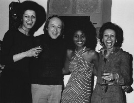 Chris Barber, Viola Wills and two unknown women, by Harry Diamond - NPG x210147