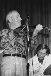 Stéphane Grappelli; Len Skeat, by Harry Diamond - NPG x210150