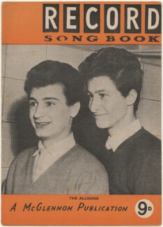 The Allisons on the cover of Record Songbook, September 1961 (Bob Day; John Alford), published by Felix McGlennon Ltd., after  Unknown photographer - NPG D48604