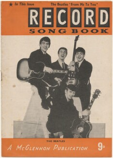 The Beatles on the cover of Record Songbook, May 1963 (George Harrison; John Lennon; Ringo Starr; Paul McCartney), published by Felix McGlennon Ltd., after  Unknown photographer - NPG D48607