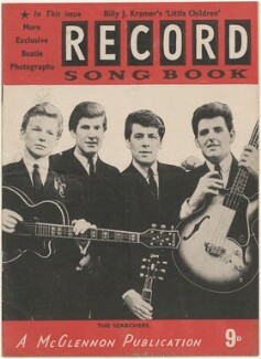 The Searchers on the cover of Record Songbook, March 1964 (Tony Jackson; Mike Pender; Chris Curtis; John McNally), published by Felix McGlennon Ltd., after  Unknown photographer - NPG D48609