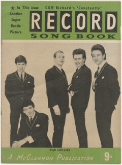 The Hollies on the cover of Record Songbook, June 1964 (Eric Haydock; Allan Clarke; Robert Hartley ('Bobby') Elliott; Graham Nash; Tony Hicks), published by Felix McGlennon Ltd., after  Unknown photographer - NPG D48611