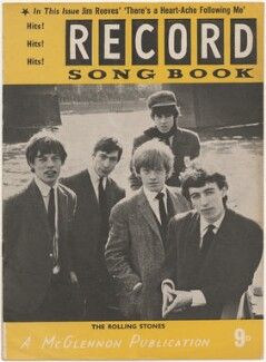 The Rolling Stones on the cover of Record Songbook, January 1965 (Mick Jagger; Charlie Watts; Brian Jones; Keith Richards; Bill Wyman), published by Felix McGlennon Ltd., after  Unknown photographer - NPG D48612