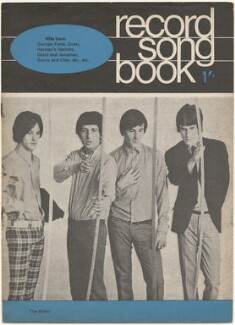 The Kinks on the cover of Record Songbook, July 1966 (Dave Davies; Pete Quaife; Mick Avory; Ray Davies), published by Felix McGlennon Ltd., after  Unknown photographer - NPG D48614