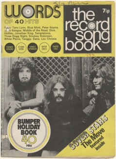 The Move on the cover of Record Songbook, July 1971 (Trevor Burton; Roy Wood; Bev Bevan), published by Felix McGlennon Ltd., after  Unknown photographer - NPG D48616