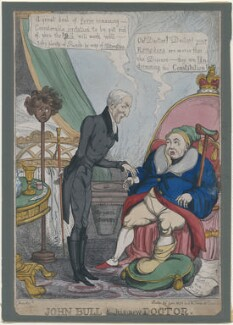 John Bull & his new Doctor, by Thomas Howell Jones, published by  Samuel William Fores - NPG D48748
